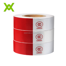 china manufacturer 3m adhesive security dot c2 clear red and white reflective pvc tape for work