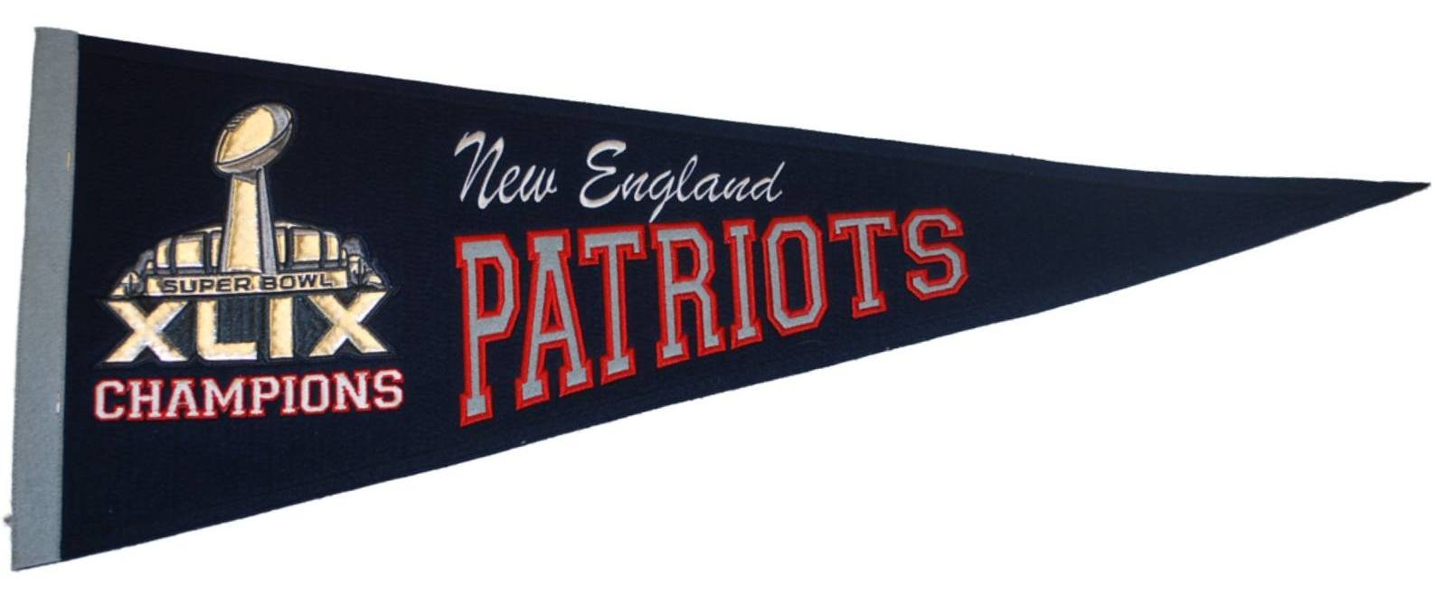 New England Patriots 2015 Super Bowl XLIX Champions Wool Navy Classic Pennant