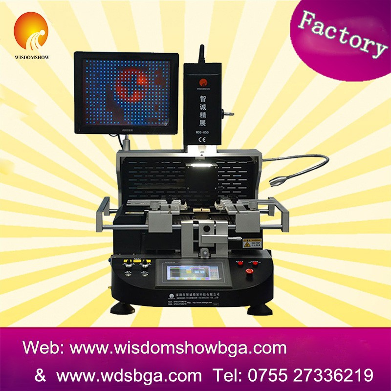 Semi auto bga soldering station WDS-650 laptop motherboard chip level repair machine with LCD CCD camera
