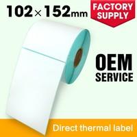 Manufacturer thermal adhesive sticker labels removable sticker paper for Zebra Printer