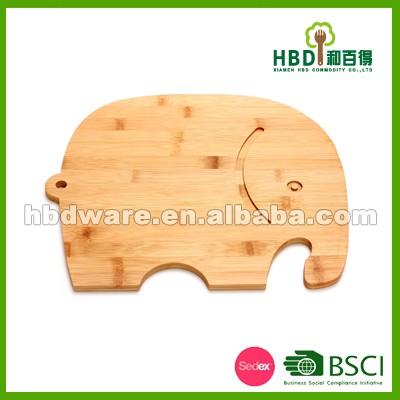 Tierform Nahrung Kontakt Netter Bambus Schneidebrett Und Holz
