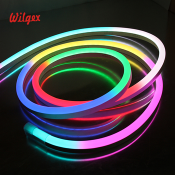 Wilgex Led Lighting Color Changing Ip68 Custom Neon Light Strip Ultra Thin Flex Rope