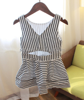 13fe0f9eb725 Fashion Black White Zebra Striped Baby Girls Dresses Cotton Frock ...