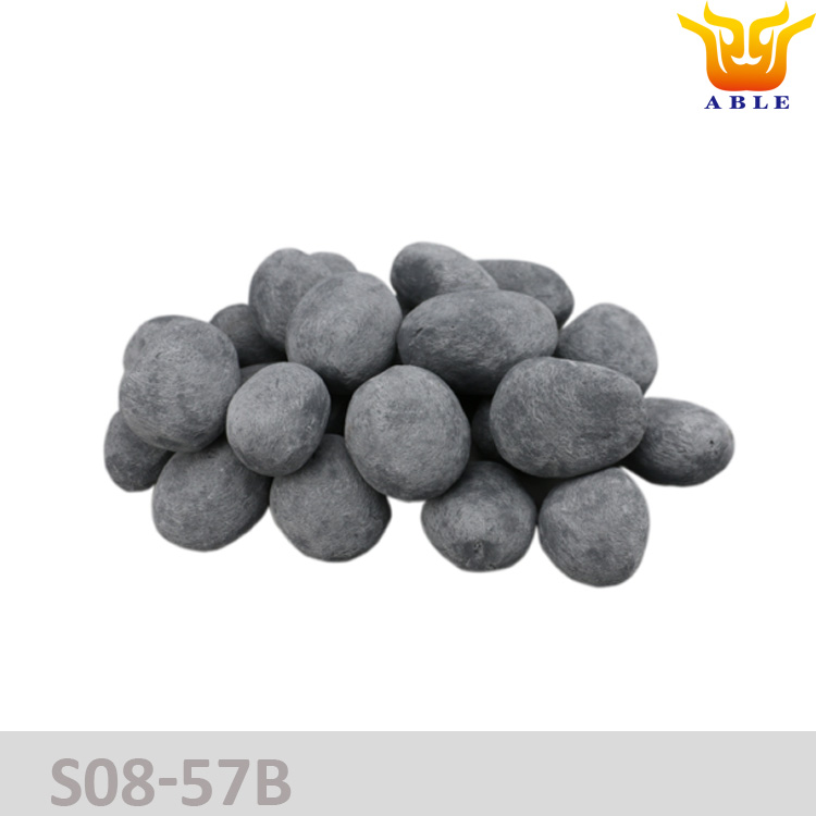 Gas log Ceramic pebble stones for gas fireplace & ethanol/alcohol fireplace