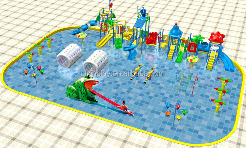 Amusement Park Swimming Pool Indoor Gardening Toddler Aqua Water Slides QX 080A
