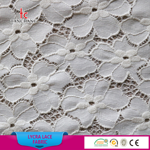 2017 fashion 3d flower lace embroidered fabric net lace fabric for garment LSML01
