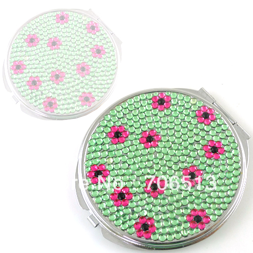 2013 Christmas Gift Free shipping(10pcs/lot) wholesale fashion Cute diamond compact mirror for makeup
