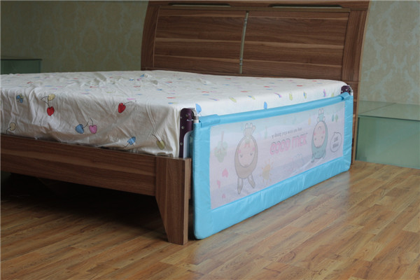 Cute Woven Net Cartoon One Button Design Queen Size Bed Rails For Children