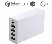 Quick Charge 3.0 + Type-C Port+Smart IC 3 in 1 5Port USB Charger for iPhone, iPad, Samsung, LG a