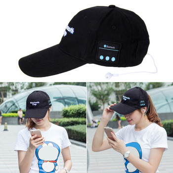 a298ad84607 Wireless Bluetooth Sports Baseball Cap Canvas Smart Sun Hat Music Headphone  Speaker Handsfree with Mic for