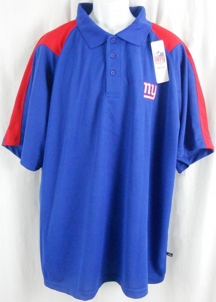 Get Quotations · New York Giants NFL Team Apparel Embroidered Dri Fit Polo  Golf Shirt Big Sizes 4894d6215