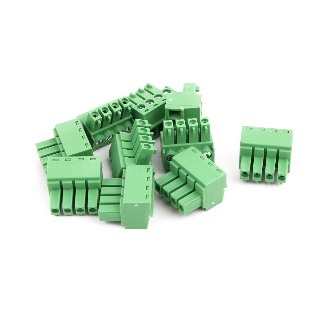 uxcell 10Pcs AC 300V 8A 3.81mm Pitch 4P Terminal Block Wire Connection for PCB Mounting