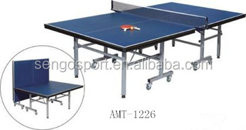 Pingpong Table Single Table Tennis Table Indoor International Size Wheel  With Break