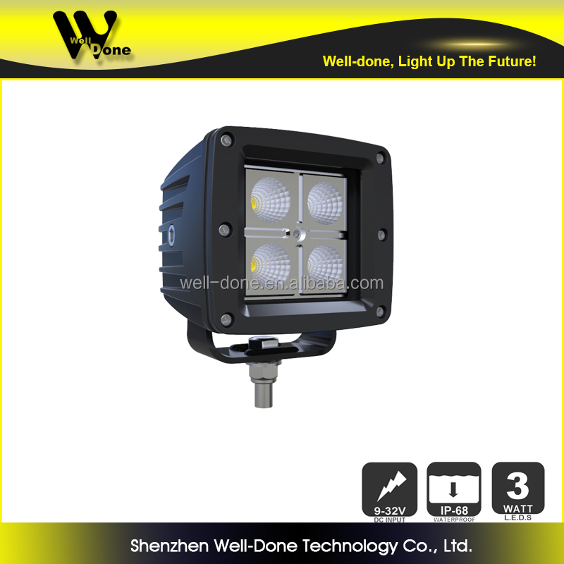 Original Design Manufacturer 3.23'' Light Dancer CE ROHS approved IP68 Super bright C ree 12W SUV LED driving light