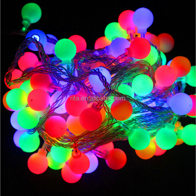 Wholesale LED twinkling Holiday Christmas lights;ball type;10M ...