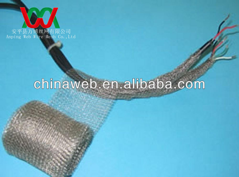 Knitted Wire Mesh Emi Shielding Cable Sleeving - Buy Knitted Wire ...