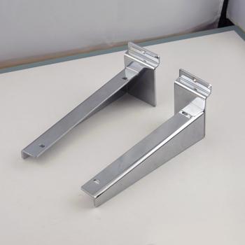 Fix On Slatwall Board Metal Chrome Metal Wall Shelf Bracket - Buy ...
