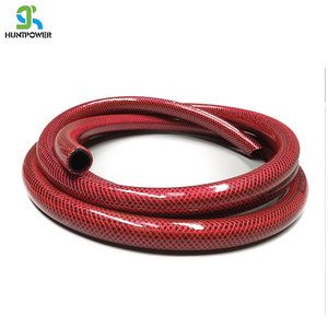 Adaptable wear-resisting coils 3 layers high-tenacity braided polyester reinforcement plastic elastic pvc garden hose assembly