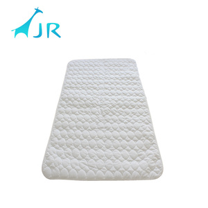 china white 65%polyester 35%cotton tpu waterproof baby mattress protector with filling
