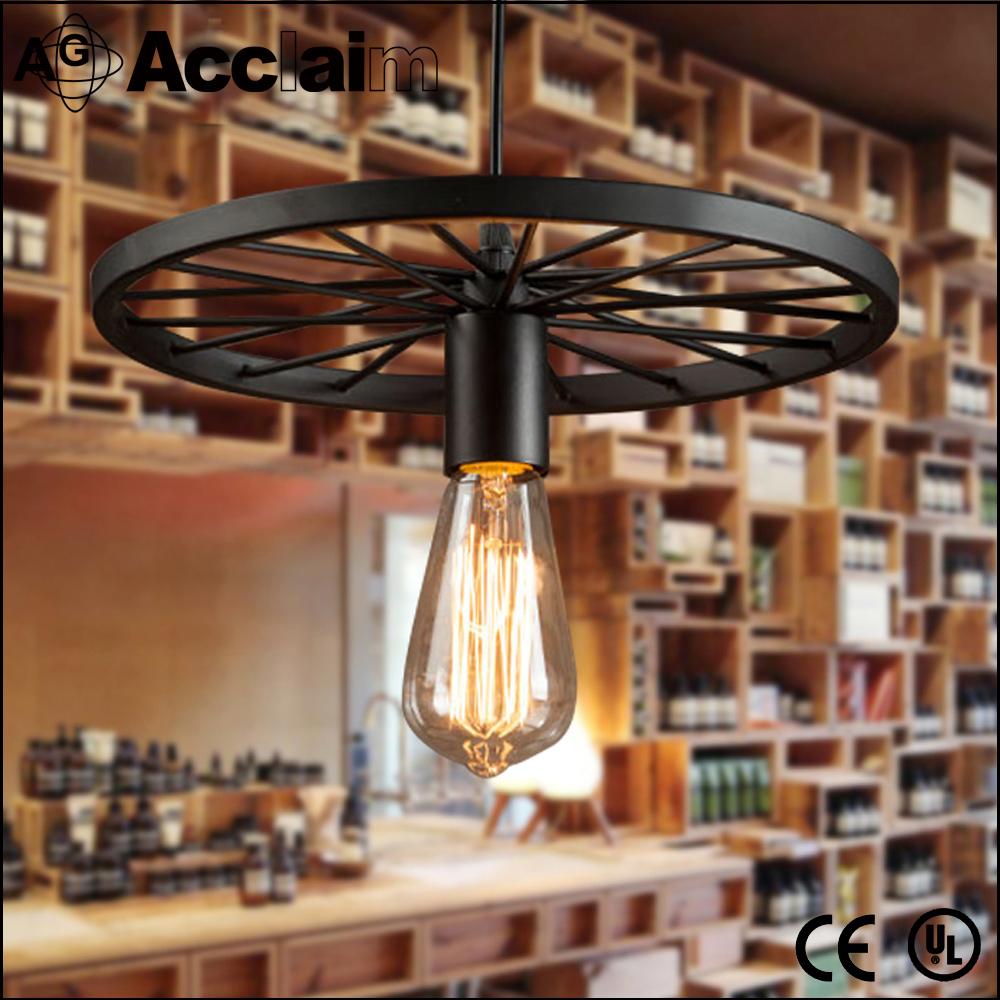 Industrial steampunk retro illuminazione castello lampada a ...