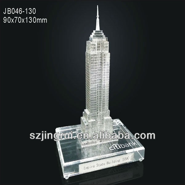 Empire state building crystal model gift