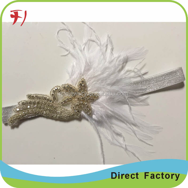 Good Price Peacock feather Beads Headbands Headdress Carnival Headpieces