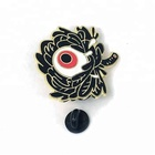 1 inch black metal custom made soft enamel lapel pin