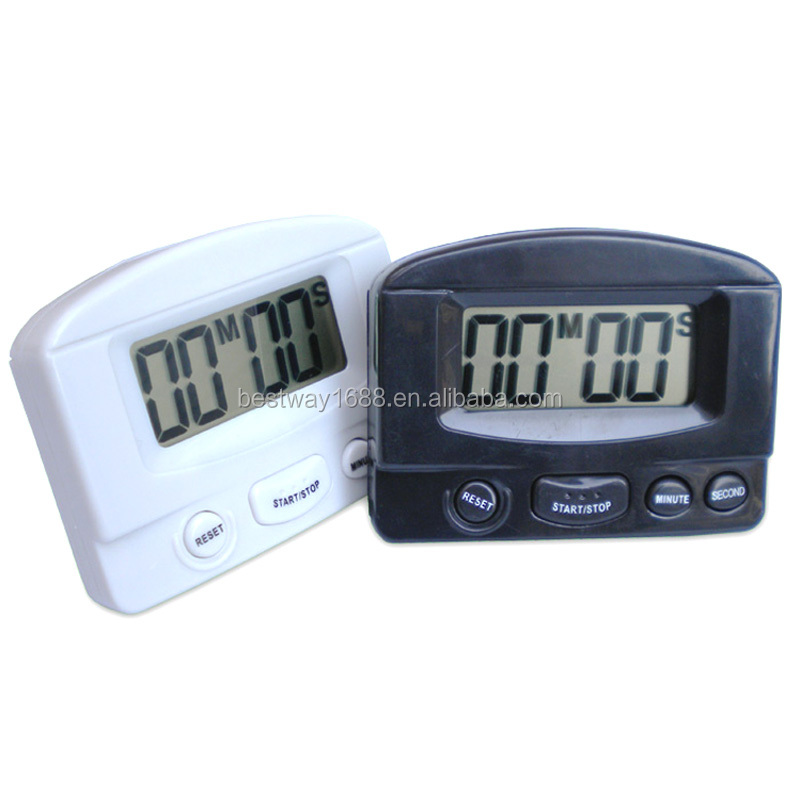 331 reloj Digital gran pantalla lcd Kitchen Timer Count Down Timer Up big sound precio venta al por mayor