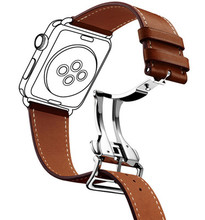 38mm 42mm adjustable leather watch strap for apple watch band