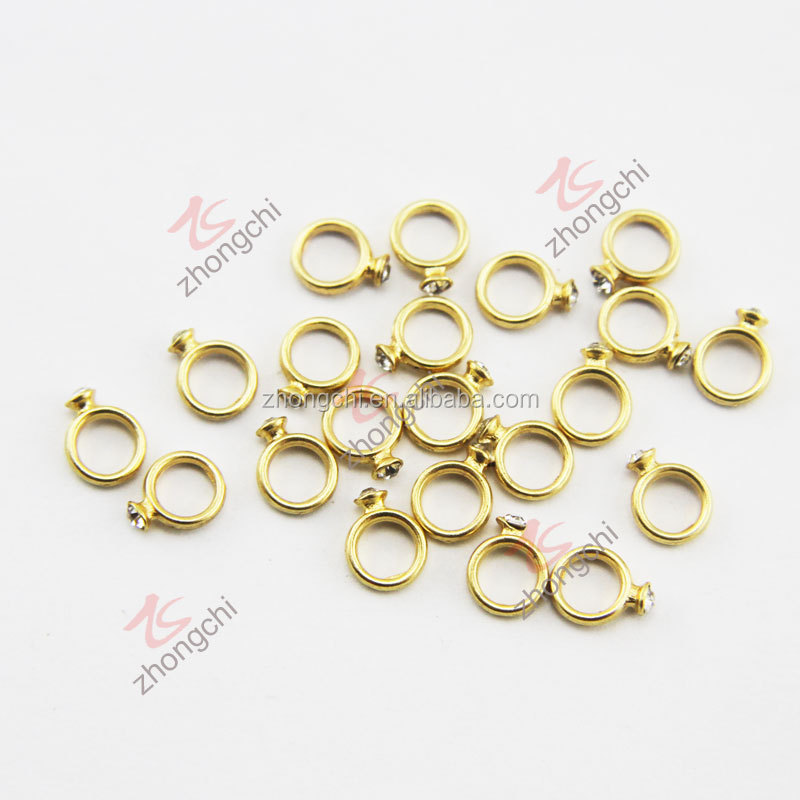 valentine's jewelry gold ring charms for floating lockets