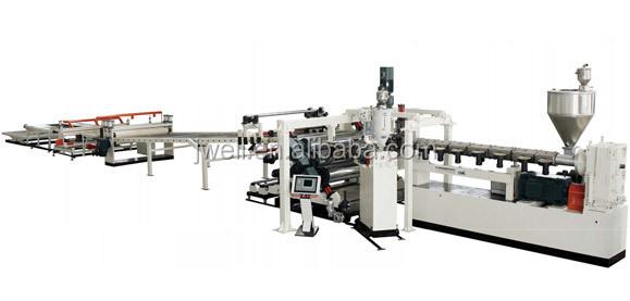 Dây chuyền sản xuất máy ép đùn tấm acrylic pmma JWELL -JWELL - Acrylic pmma sheet extrusion making machine production line