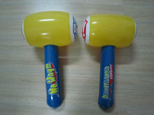 Plastic pvc inflatable hammer soft toys.
