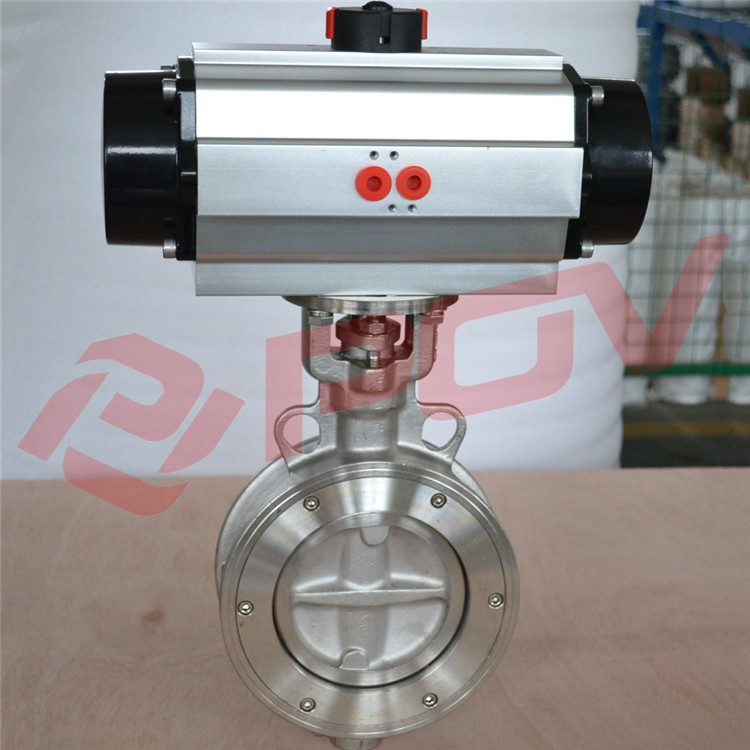 High Quality Complete Ss316 Wafer Connection Pneumatic