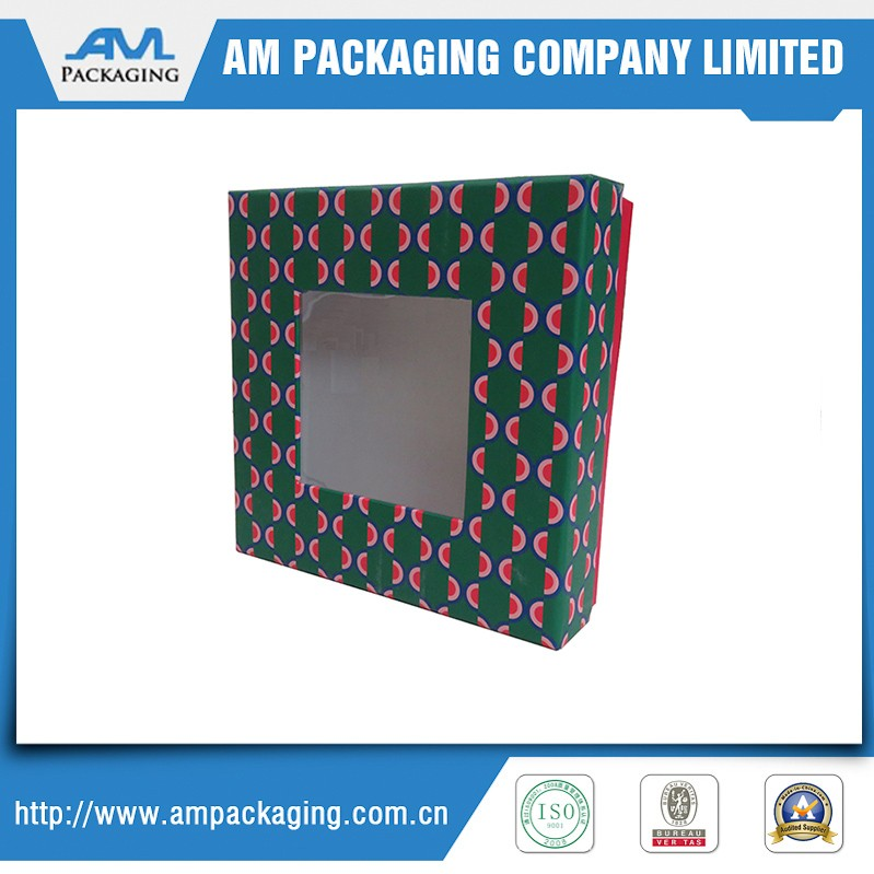 Two piece clear window gift box favor box direct packing supplier