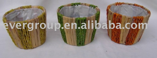 round mix color flower pot