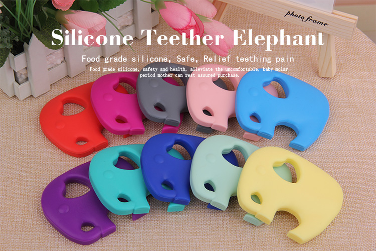 Christmas Unique Gift Silicone Baby Teething Toy & Baby Toy Elephant Teether