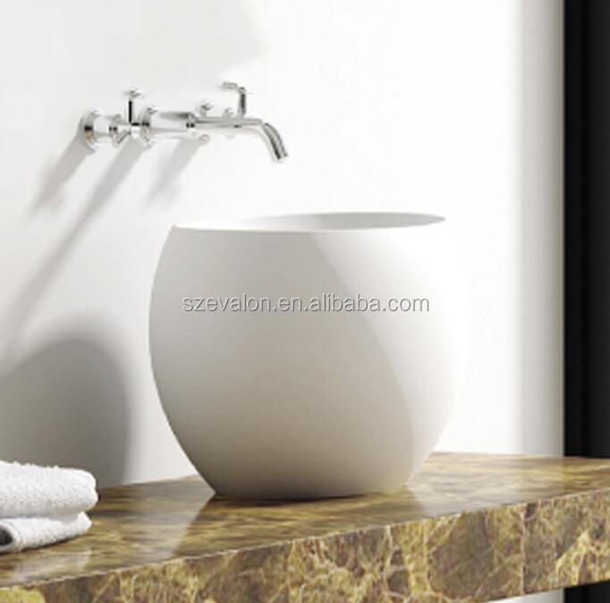 Acrylic pedicure sink with jets/Bath basin, solid surface resin basin counter top wash basin