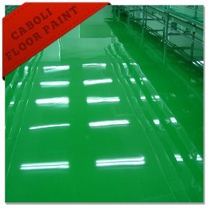 Caboli green color epoxy concrete car parking lot coating