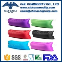 Inflatable Sofa Outdoor Air Sleep Couch Portable Furniture Imitate Nylon  External Internal PVC For Summer Camping