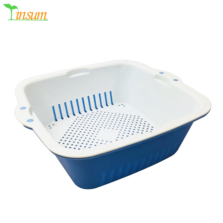 Kitchen Utensil Plastic Fruit Basket Strainer Colander Sieve