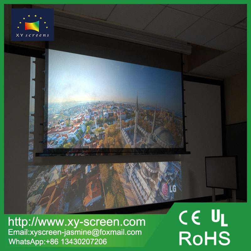 XY SCREEN High Gain black crystal Motorized Projection Screen with any size