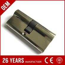 new zinc alloy 80mm mortise sliding door lock with NB finish color