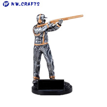 New design resin silver man's shooting 50m trophy for championships