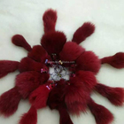 High Quality Fox Fur Keychain/Rabbit Fur Pom poms/Real Fox Fur
