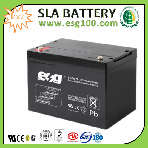 12V 70AH lead acid battery for Solar Energy Generating System Battery with High Performance Made in Guangzhou
