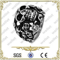 Alibaba Hot Product Stainless Steel Skull Alibaba Hot Product Stainless Steel Skull Biker Jewelry