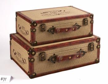 Incroyable Wholesale Retro Decorative Wooden Storage Box Vintage Suitcase