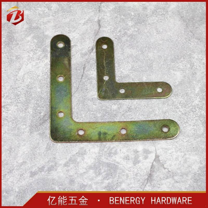 hot sale customized package of iron zinc plated decorative flat corner plate bracket