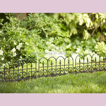 Decorative Metal Lawn Edging Fence Ideas Vintage Wrought Iron Flower Border  Fencing Steel Garden Small Fencing