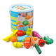 Boys interested kitchen vegetables pretend cooking cutting fruit toy